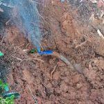 Blue poly pipe leak